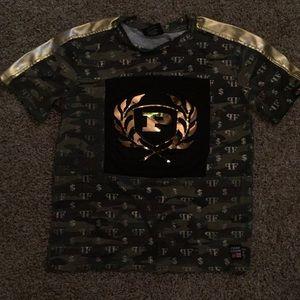 Phat Farm boys size 7 gold & green t-shirt w/ $